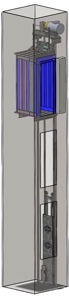 Лифт электрический без машинного помещения БМП-1