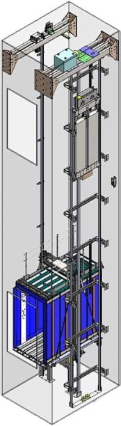 Лифт электрический без машинного помещения БМП-2