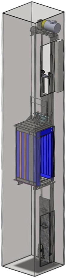 Лифт электрический без машинного помещения МиниБМП